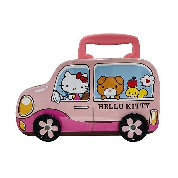 HELLO KITTY 造型車草莓棉花糖禮盒(120g)【小三美日】