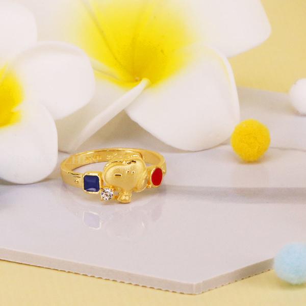 撞色玩味史努比-史努比70週年-黃金戒指