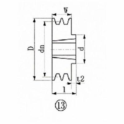 エバオン ※EVN ブッシングプーリー SPZ 150mm 溝数2 SPZ1502   1131 3806855