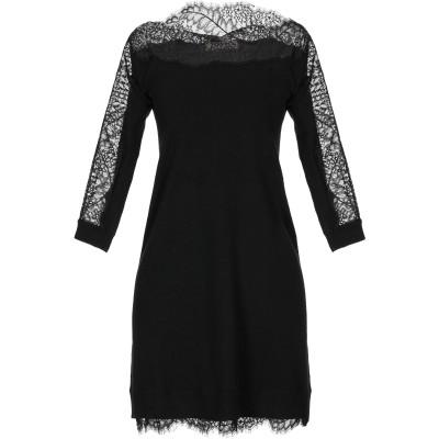 ツインセット シモーナ バルビエリ TWINSET ミニワンピース&ドレス ブラック XL コットン 40% / レーヨン 35% / ナイロン 2
