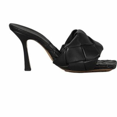 ボッテガ ヴェネタ Bottega Veneta レディース サンダル・ミュール シューズ・靴 leather woven sandals Black
