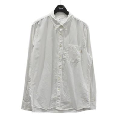 【4月12日値下】JJJJound オックスフォード ボタンダウンシャツ SLIM FIT ホワイト サイズ:M (四ツ橋北堀江店)