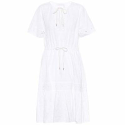 クロエ See By Chloe レディース ワンピース ワンピース・ドレス cotton dress White