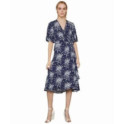 ビーシービージーマックスアズリア ワンピース トップス レディース Floral Cluster Print Dress Pacific Blue/Floral Cluster