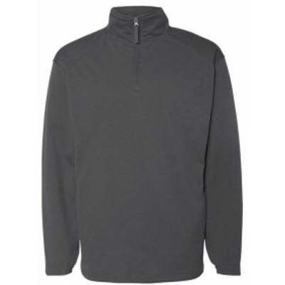 ファッション トップス Badger Mens 1/4 Zip Poly Fleece Pullover 1480 S-XL