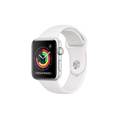 【イチオシ厳選】AppleWatch Series3 (GPS, 42mm) - Silver Aluminum Case with White Sport Ba