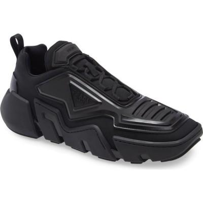 プラダ PRADA メンズ スニーカー シューズ・靴 The Techno Stretch Sneaker Black