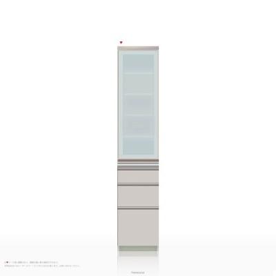 食器棚 パモウナ IEシリーズ IE-S400KL [開き扉] (幅40cm, 奥行き45cm, 左開き仕様, シルキーアッシュ色)