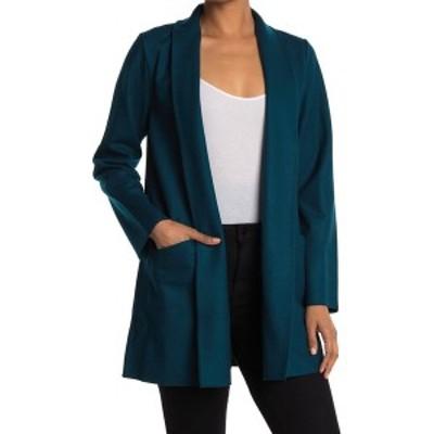 エイリーンフィッシャー レディース ジャケット&ブルゾン アウター Shawl Collar Open Front Wool Jacket BLSPR