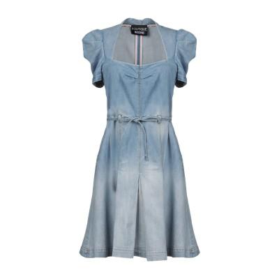 BOUTIQUE MOSCHINO ミニワンピース&ドレス ブルー 38 コットン 98% / 指定外繊維 2% ミニワンピース&ドレス