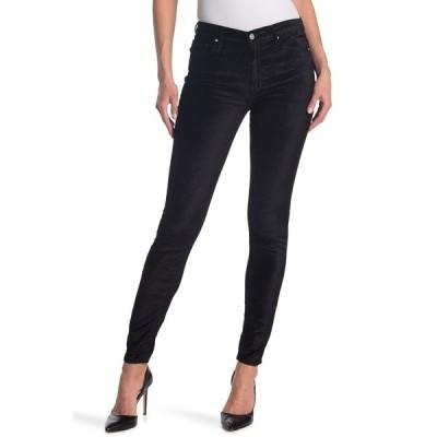ブラックオーキッド レディース デニムパンツ ボトムス Jude Mid Rise Super Skinny Velvet Jeans BLACK