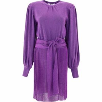 エムエスジーエム Msgm レディース ワンピース ワンピース・ドレス Lame Pleated Dress Purple