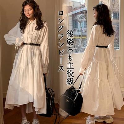 ワンピース バーゲンセール 春服ロングワンピース韓国ファッションシンプルなワンピ春ワンピーススカート レディースワンピース