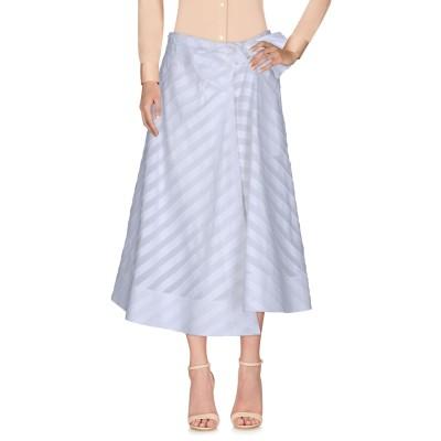 エミリオ・プッチ EMILIO PUCCI 7分丈スカート ホワイト 38 コットン 99% / ポリウレタン 1% 7分丈スカート
