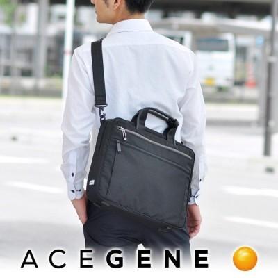 最大P+21% エースジーン ACEGENE 2wayビジネスバッグ ショルダーバッグ ブリーフケース LITENTRY リテントリー メンズ 55161