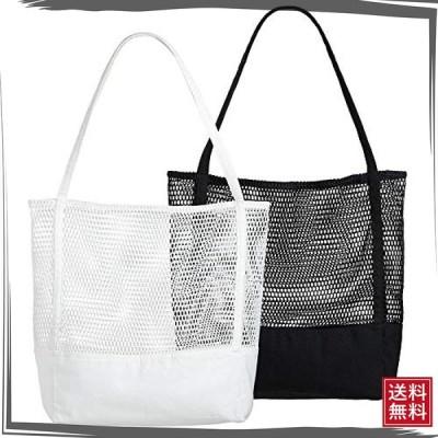 Lilyan エコバッグ 折りたたみ 買い物袋 トートバッグ 大容量キャンバス コンパクト 2枚セット おしゃれ 人気