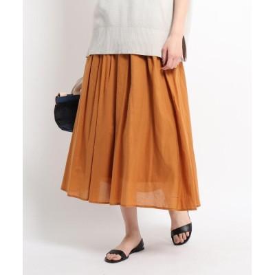 Dessin(Ladies)(デッサン(レディース)) 【S~L】コットンシルクギャザーフレアスカート