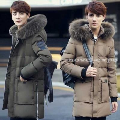 メンズ中綿入りジャケット男性用 メンズブルゾン 韓国風 厚手 防寒 冬 4色 中綿ジャケット ミディアム 通勤 アウター