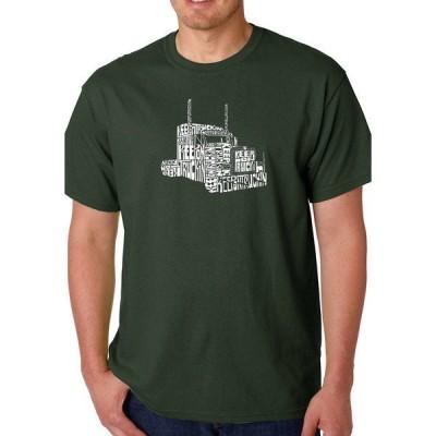 エルエーポップアート Tシャツ トップス メンズ Word Art Graphic T-Shirt - Keep On Truckin'  Forest