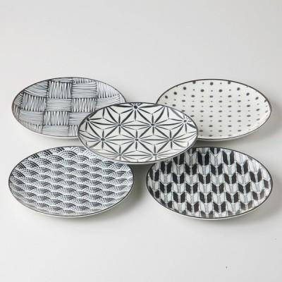 食器セット komon パン皿セット [ 品:パン皿 x 5 / R16 x 2cm 箱:18.5 x 19 x 7cm ]