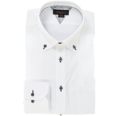 形態安定スリムフィット ボタンダウン長袖ビジネスドレスシャツ