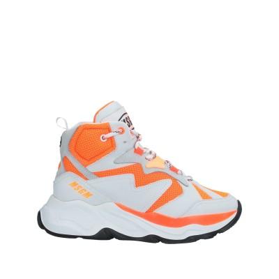エムエスジーエム MSGM スニーカー&テニスシューズ(ハイカット) オレンジ 35 革 スニーカー&テニスシューズ(ハイカット)