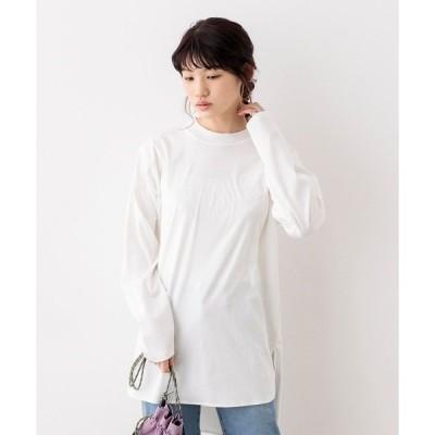 tシャツ Tシャツ 綿100% シンプルベーシック モックネック 長袖 Tシャツ