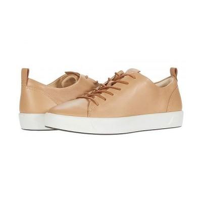 ECCO エコー レディース 女性用 シューズ 靴 スニーカー 運動靴 Soft 8 Dri-Tan LX Sneaker - Latte Calf Leather