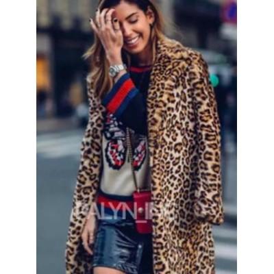 ファッション 衣類 NWT ZARA AW18 LEOPARD PRINT COAT LAPEL COLLAR 1255/253_XS S M L