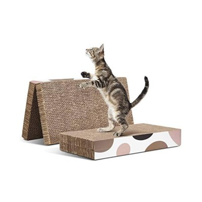ComSaf猫 爪とぎ 段ボール つめとぎ 折り畳み式 両面使える 高密度 耐久 2枚入り40x20x6cm(幅広さx奥行x高さ)