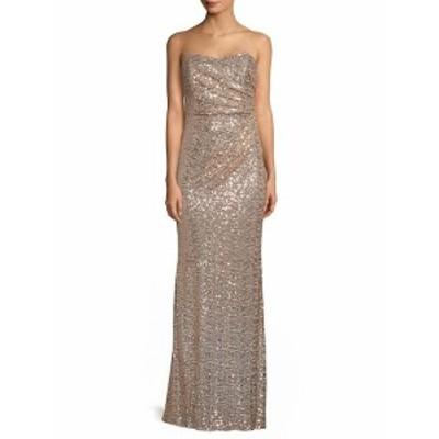 バッジリーミシュカ レディース ワンピース Strapless Drape Sequin Gown