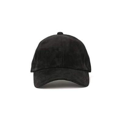 [レイビームス] 帽子 撥水 スエード キャップ レディース ブラック Free Size