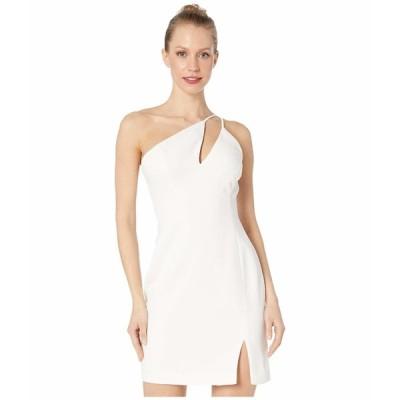 ビーシービージーマックスアズリア ワンピース トップス レディース One Shoulder Cut Out Short Cocktail Dress Off-White