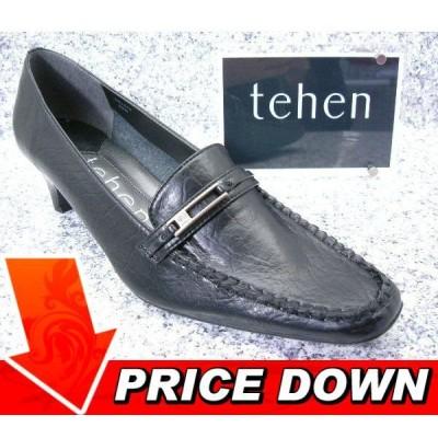 tehen テン TN1576 ブラック│ レディース パンプス 21.5cm-25.0cm