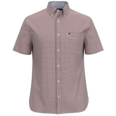 トミー ヒルフィガー シャツ トップス メンズ Men's Custom-Fit TH Flex Stretch Ike Geo-Print Shirt Rhubarb
