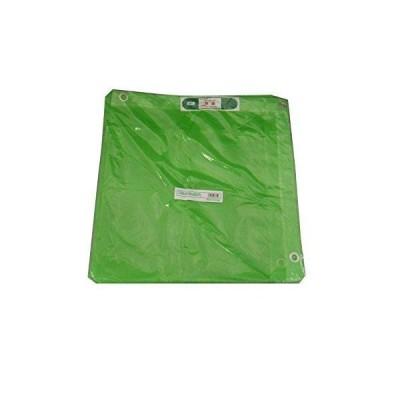 アイネット 防炎メッシュシート 輸入品 グリーン 1.8m×3.4m 425P