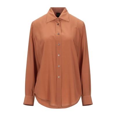 アスペジ ASPESI シャツ ブラウン 42 シルク 100% シャツ