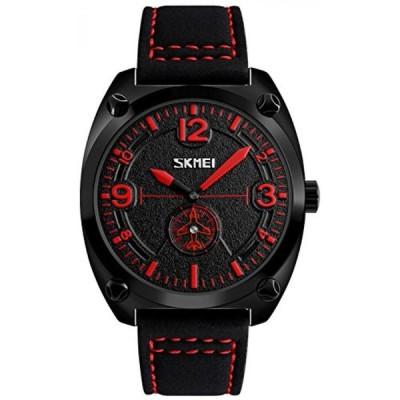 ファンミス 腕時計 メンズウォッチ Men's Casual Watches Leather Strap Waterproof Fashion Style IP Black Plating Quartz Sports Military Army Wrist watch