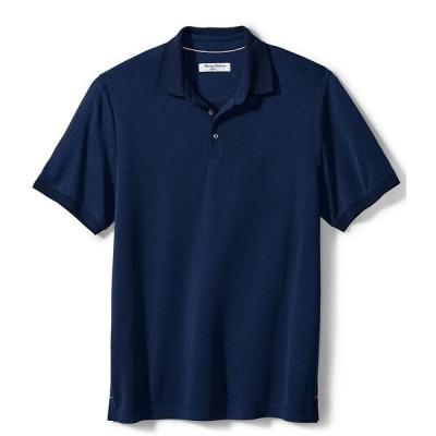 トッミーバハマ メンズ シャツ トップス Big & Tall IslandZone Diamond Dunes Short-Sleeve Polo Shirt Ocean Deep