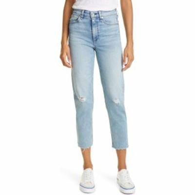 ラグandボーン RAG and BONE レディース ジーンズ・デニム ボトムス・パンツ Nina High Waist Distressed Raw Hem Ankle Cigarette Jeans