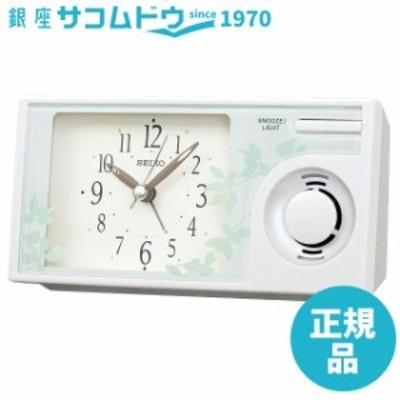 SEIKO CLOCK セイコー クロック 置き時計 目覚まし時計 アナログ ネイチャーサウンド QM749W [4517228040627-QM749W]