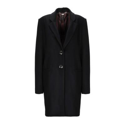 マニラ グレース MANILA GRACE コート ブラック 38 バージンウール 80% / ナイロン 20% コート