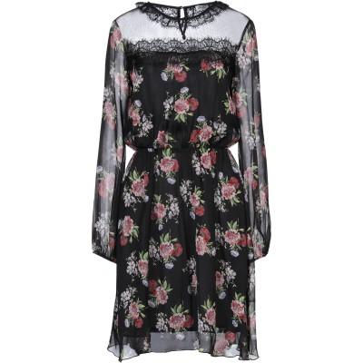 リュー ジョー LIU •JO ミニワンピース&ドレス ブラック 38 シルク 100% / ポリエステル ミニワンピース&ドレス