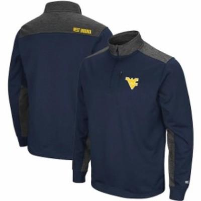 Colosseum コロセウム スポーツ用品  Colosseum West Virginia Mountaineers Navy/Charcoal Samir Quarter-Zip Fleece Jacket