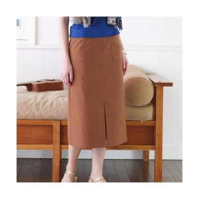 Liliane Burty ECLAT / リリアンビューティ エクラ ドライタッチの綿麻混スカート