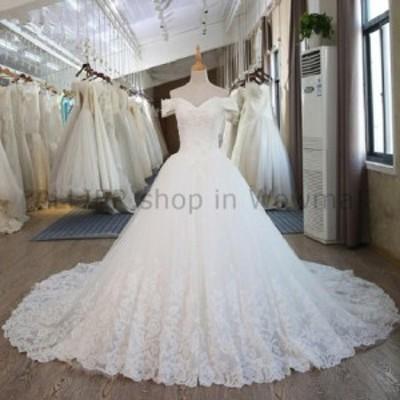 ウェディングドレス エレガントなAラインオフショルダーレースのウェディングドレスブライダルガウンサイズ6 8 10 12 13 1