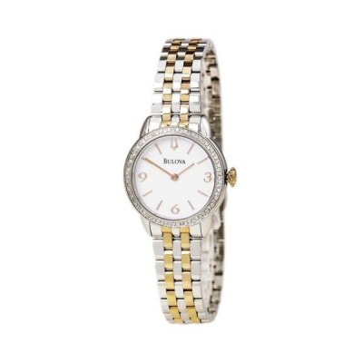 腕時計 ブローバ Bulova 98R182 Women's Diamond White Dial TT Steel Bracelet Watch