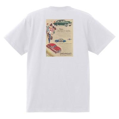 アドバタイジング シボレー 144白 Tシャツ 1949 オールディーズ 50's 60's ローライダー ホットロッド フリートライン