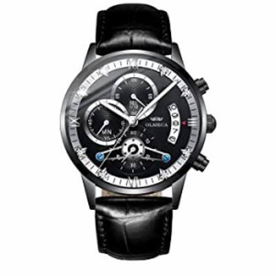 OLMECA Men's Watch Sports Waterproof Wristwatches Fashion Dress Watches for Men Analog Quartz Chronograph Date Watch for Men 083