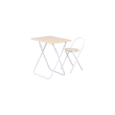 ds-2338370 折りたたみテーブルチェアセット ホワイト【代引不可】 (ds2338370)